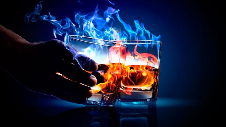 Drinks flamejantes